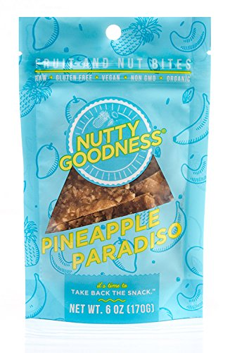 Nutty Goodness Gluten Free Chewy Fruit and Nut Chips, Pineapple Paradiso 6 oz Pouch (6 count)