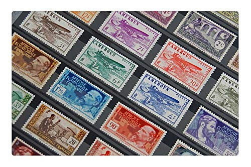 Indoor Floor Rug/Mat (23.6 x 15.7 Inch) - Stamps Collection French Stamps Philately Post ()