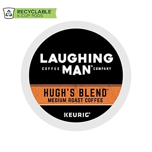 Laughing Man Hugh Jackman Separate-Serve Fair Trade Keurig Recyclable K-Cup Arabica Coffee Pods