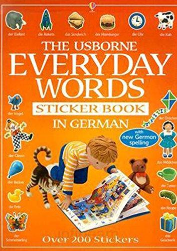 Everyday Words In German Sticker Book (Everyday Words Sticker Books) (German Edition)