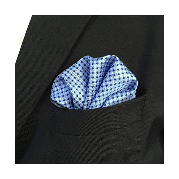 Shlax&Wing Mens Ties Blue Dots Business Necktie Silk Suit For Men