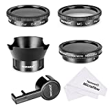 Neewer Filter & Accessory Kit for DJI Phantom 3 4K, Advanced, Professional and Standard: UV Filter + CPL Filter + ND2-400 Filter + Rose Petal Lens Hood + Lens Cap Protector + Cleaning Cloth