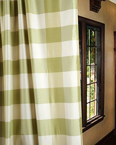 Plaid Curtains Green (TSC Green Ivory 4