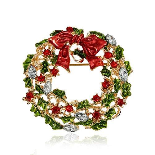 Mit Girlande Schmuck Farbe Y 3 Brosche Strass Weihnachten xm ...
