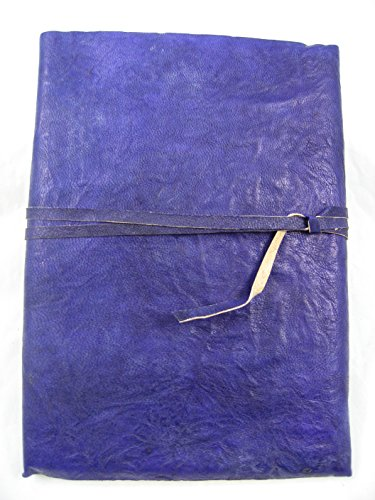 Handcrafted Genuine Leather Antique Traveler Journal with Parchment Paper (5x7) Lewis & Clark series Blue/Purple