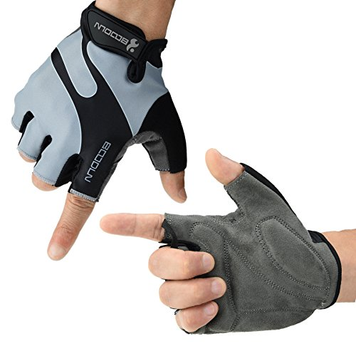 ArcEnCiel Cycling Gloves with Shock-absorbing Foam Pad Breathable Half Finger Bicycle Riding Gloves Bike Gloves
