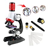 Science Microscope Kit for Children 100x 400x 1200x Refined Scientific Instruments Toy Set for Early Education