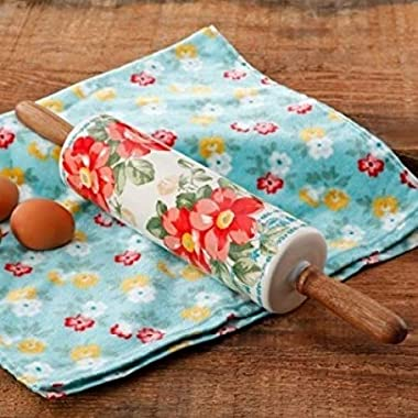 The Pioneer Woman Vintage Floral 18.4  Rolling Pin