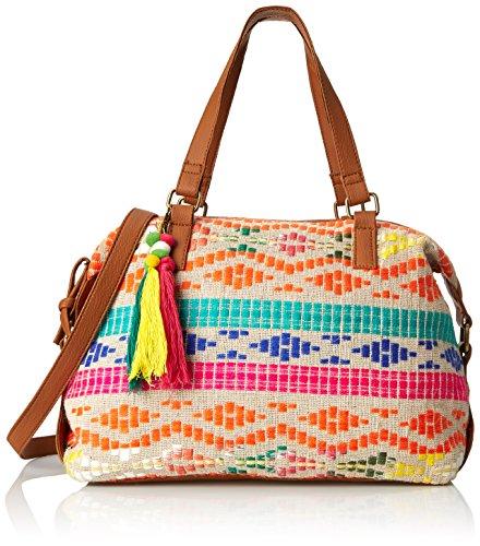 Aldo Janak Top Handle Bag Bright MultiTan Trim One Size