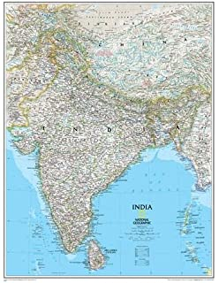 Southeast asia classic tubed national geographic reference map india classic tubed wall maps countries regions national geographic reference gumiabroncs Gallery