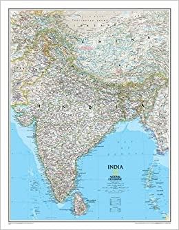 National Geographic: India Classic Wall Map - Laminated (23.5 x 30.25 inches) (National Geographic Reference Map)