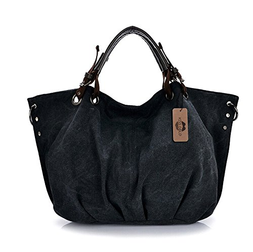 Size Large Hobo 3'' Bag European Large Canvas TM Tote '' Black Handle 14 Top Style Shoulder KISS 22 Bag GOLD X6 '' X Shopping 2 6wqZ4qP