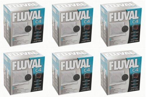 C4 Carbon (Fluval C4 Carbon 3 pk Filter Media x 6 Inner)