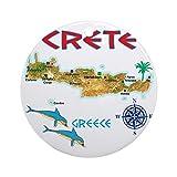 CafePress Crete%5FT%5FShirt%5FMap Round ...