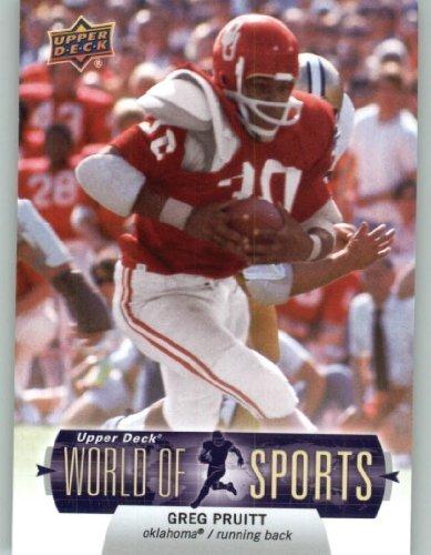 2011 Upper Deck World of Sports Baseball Trading Card #93 Greg Pruitt - Oklahoma Sooners (NFL Football) (Oklahoma Player)