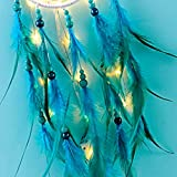 Dream Catcher with LED String Lights Metal Circle