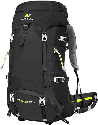 NEVO Rhino Hiking Backpack, 40L/50L/60L/70L/80L Waterproof Camping Backpacking Daypack