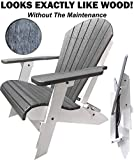 DuraWeather Classic Folding Adirondack Chair - Superior Composite Poly Resin - No Assembly Required, 350 lb Weight Capacity - Made In The U.S.A.