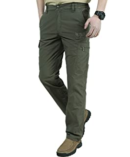 BMEIG Pantaloni da Trekking Pantaloni da Uomo - Pantaloni Asciugatura  Rapida Antivento Tasche Multitasche Elasticizzate Traspiranti c86fe54ebae