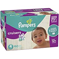 Pampers Cruisers Disposable Diapers Size 4, 160 Count