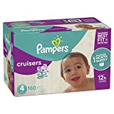 Pampers Cruisers Disposable Diapers Size 4, 160 Count, ONE MONTH SUPPLY