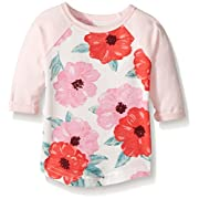 Carter's Baby Girls' Knit Fashion Top, Pink Floral, 24 Months
