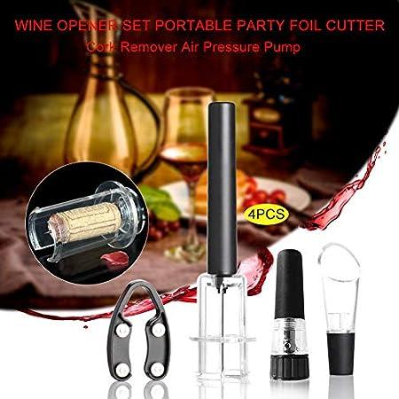 MOVKZACV Juego de abrebotellas de vino, sacacorchos, abridor de botellas de vino, kit de regalo para los amantes del vino, cortador de aluminio, tapón de vacío y aireador
