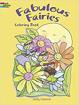 fabulous fairies coloring book dover coloring books shelley dieterichs 9780486482675 amazoncom books - Dover Coloring Book