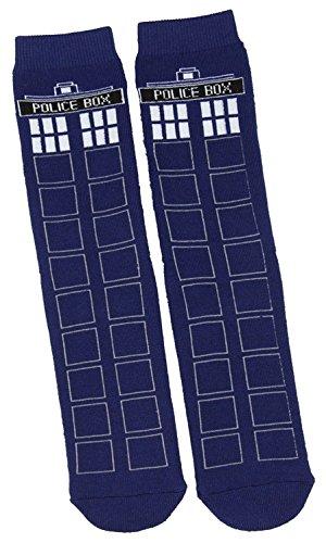 [Doctor Who TARDIS Full Cushion Slipper Socks] (Matt Smith Costume)