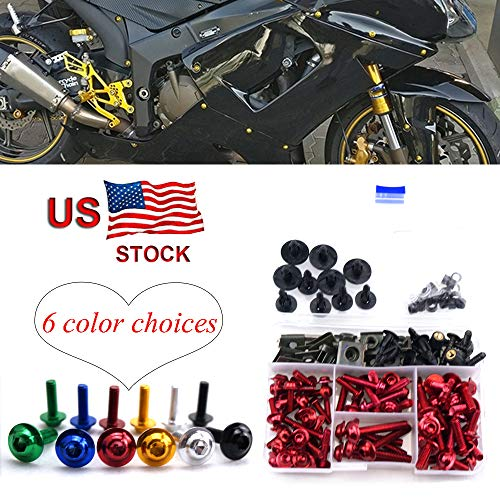 CNC Alloy Fairing Bolt Kit Bodywork Screws M5 M6 For Honda CBR1100XX CBR 1100 XX CBR 1100XX Blackbird 1996-2005