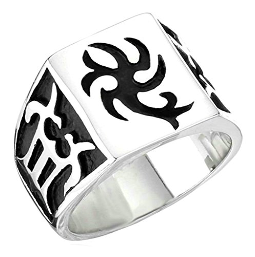(Aooaz 316L Stainless Steel Mens Ring Bands Scorpion Silver Size 8 Punk Gothic Vintage Novelty Ring)