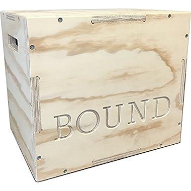 BOUND© Plyo Box (16/18/20) 3 in 1 Wood Puzzle Plyometric Box - Great for CrossFit Training, MMA, or Plyometric Agility - Jump Box, Plyobox, Plyo Box, Plyometric Box, Plyometrics Box