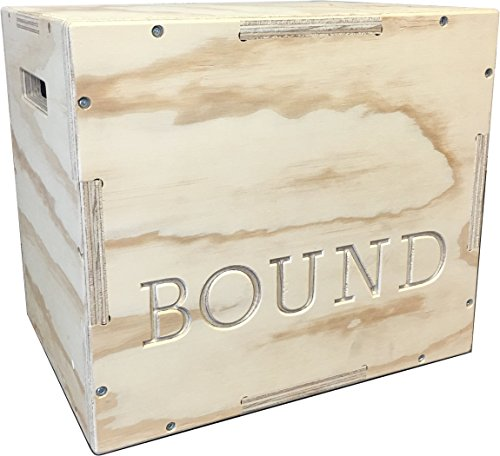 Bound 3-in-1 Wood Plyo Box - (30/24/20 - 24/20/16 - 20/18/16 - 16/14/12) - CrossFit Training, MMA, or Plyometric Agility - Jump Box, Plyobox, Plyo Box, Plyometric Box, Plyometrics Box