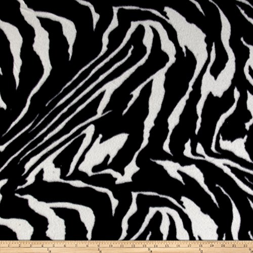 Newcastle Fabrics Polar Fleece African Zebra Fabric by The Yard,