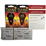 Tick Remover (2 Pack) Gold and Bronze with 2 Pet Emergency Cards and 2 Self Laminating Pouches