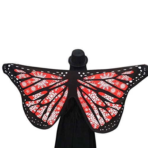 FEITONG Halloween Party Women Soft Fabric Butterfly Wings