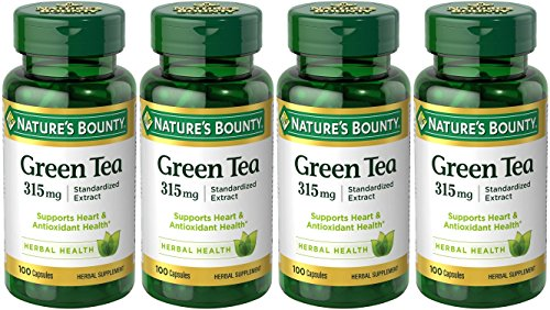 Nature's Bounty Green Tea Extract, 315mg, 400 Capsules (4 X 100 Count Bottles)