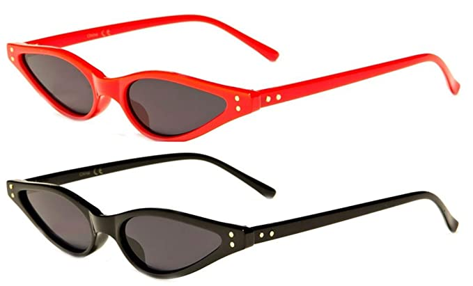 aad2124066 Cat Eye Low Profile Womens Accessories Sunglasses - For Square Face Ladies  (2 Pack Red