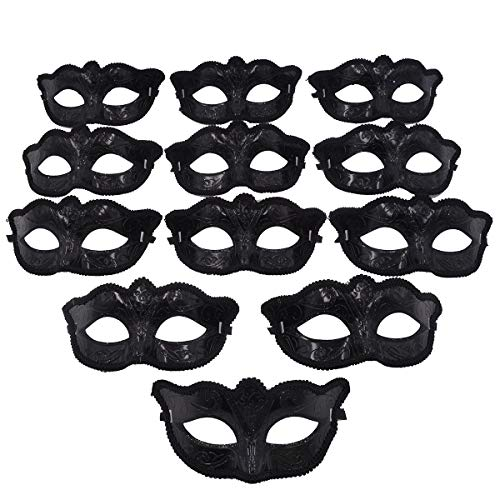 Uni Halloween Costume (Masquerade Party Decorative Mask - 12pcs Pack Mardi Gras Venetian Mask Halloween Costume Novelty)