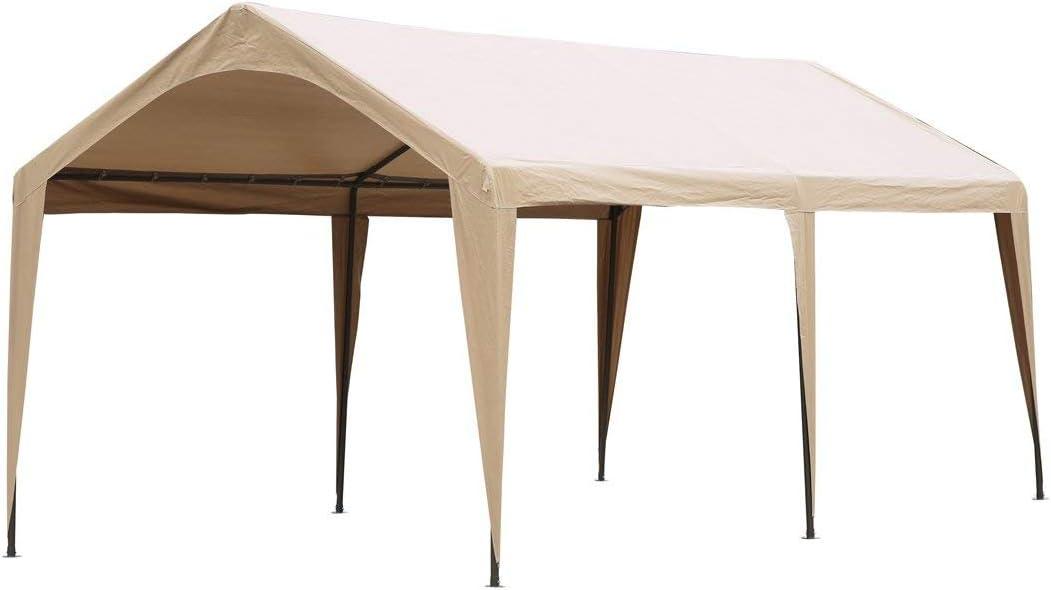 Beige ABCCANOPY 10x20 FT Carport Garage Car Canopy Boat Shelter Party Tent