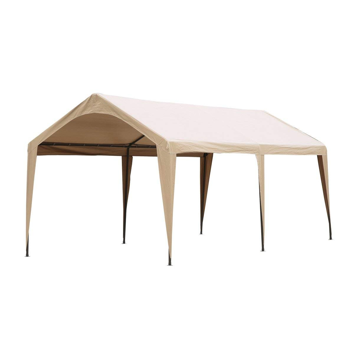 Abba Patio 10 x 20-Feet Outdoor Carport Canopy with 6 Steel Legs, Beige by Abba Patio