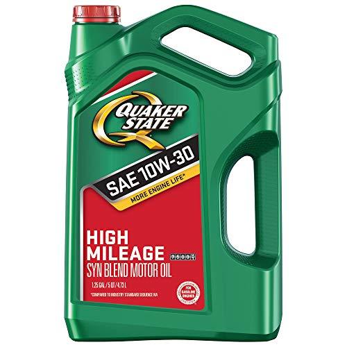 (Quaker State 550044937 High Mileage 10W-30 Motor Oil (GF-5), 5 quart)
