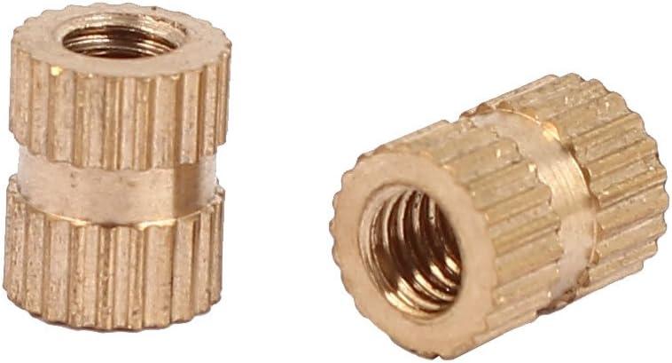 Wolfgo Gewindeeinsatz-50Pcs Messing Ton Selbstschneidendes Gewinde geschlitzt Eins/ätze Kombination Set Reparatur Gewindewerkzeug