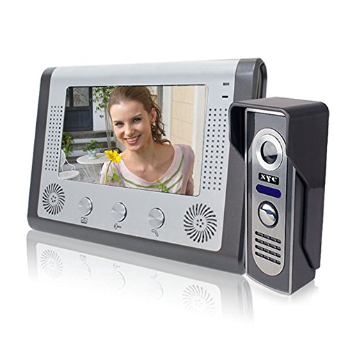 MOUNTAINONE 7 Inch Video Door Phone Doorbell Intercom Kit 1-camera 1-monitor Night Vision -  SY801M11