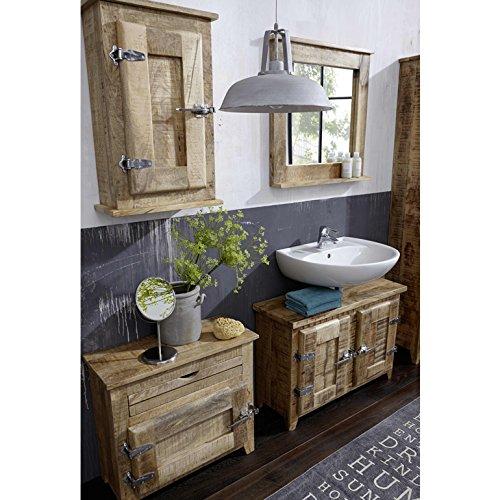 SIT-Moebel Badezimmer Set mit Schränken und Spiegel Mango Massivholz ...