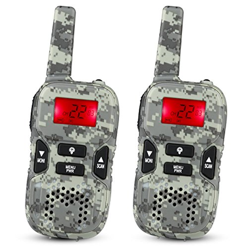 STOTOY Kids Walkie Talkies 22 Channel FRS VOX 2 Way 6KM Long Range Radio for Kids(1 Pair) (Camo)