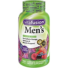 vitafusion Men's Multivitamin provides a complete multivitamin specially formulated to support the health needs of men. Each delicious two-gummy serving combines essential vitamins and minerals with natural fruit flavors to provide a great-ta...