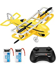 JJRC H95 RC Mini Drone for Kids, 12Mins Flight Time RC Nano Quadcopter with Altitude Hold, One Key take Off and Landing, 3D Flip and Speed Adjustment with Headless Mode Airplane Toy for Beginners (Yellow)