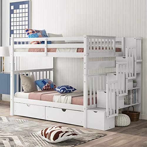Harper Bright Designs Solid Wood Bunk Bed