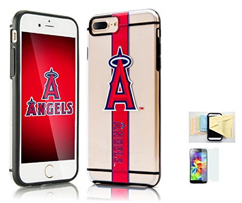 Iphone 7 Licensed collectible MLB Limited Edition Hydroclear Case [Iphone 7] Momiji [Screen Guard] Protector, Cleaning Cloth [Iphone 7] (Los Angeles Angels) (Mens Mlb Accessories)